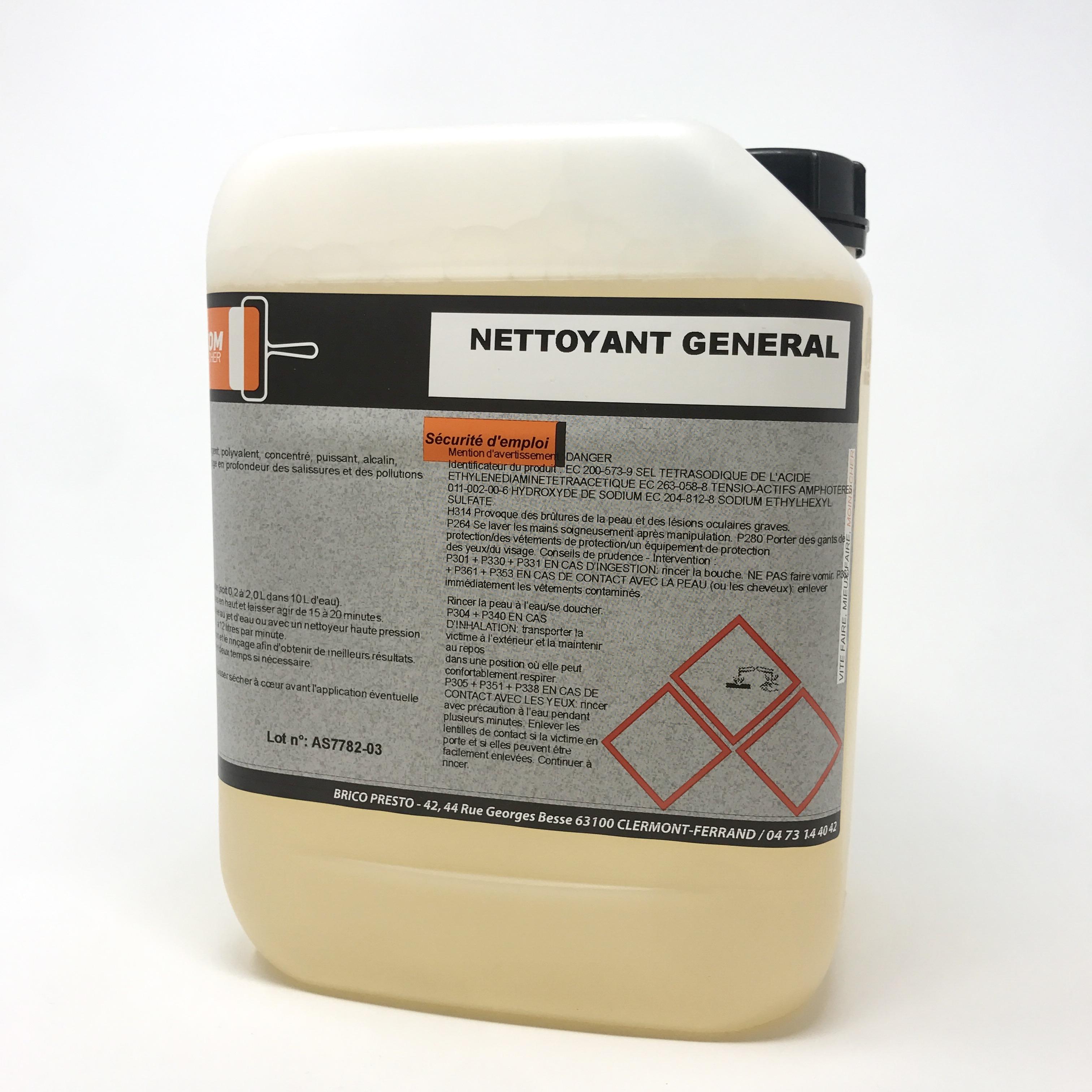 Produit Nettoyage Bardage Pvc nettoyant polyvalent